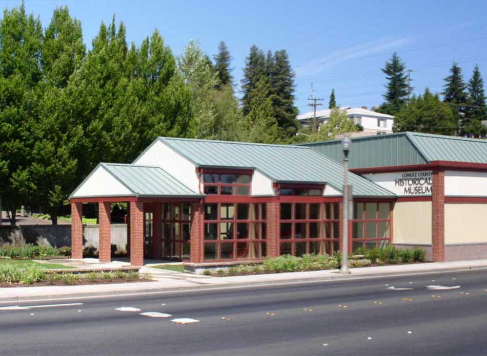 cowlitz county exterior - architectural services firm longview wa designs civic centers