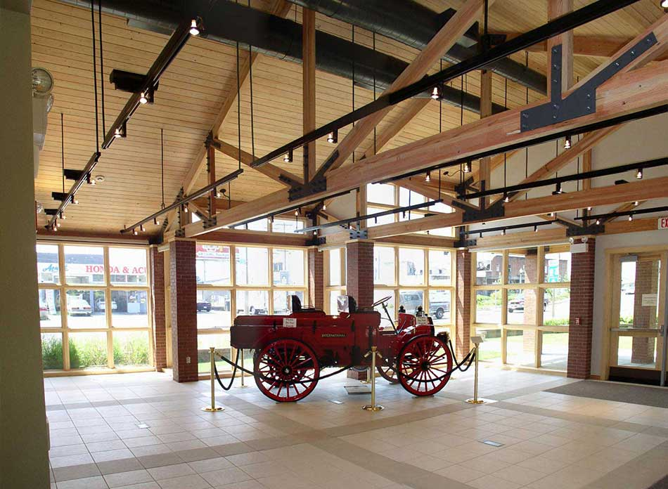 cowlitz county lobby - architectural services firm longview wa designs civic centers