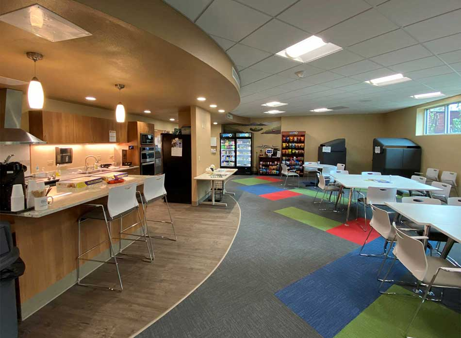 cowlitz county breakroom - architectural services firm longview wa designs civic centers