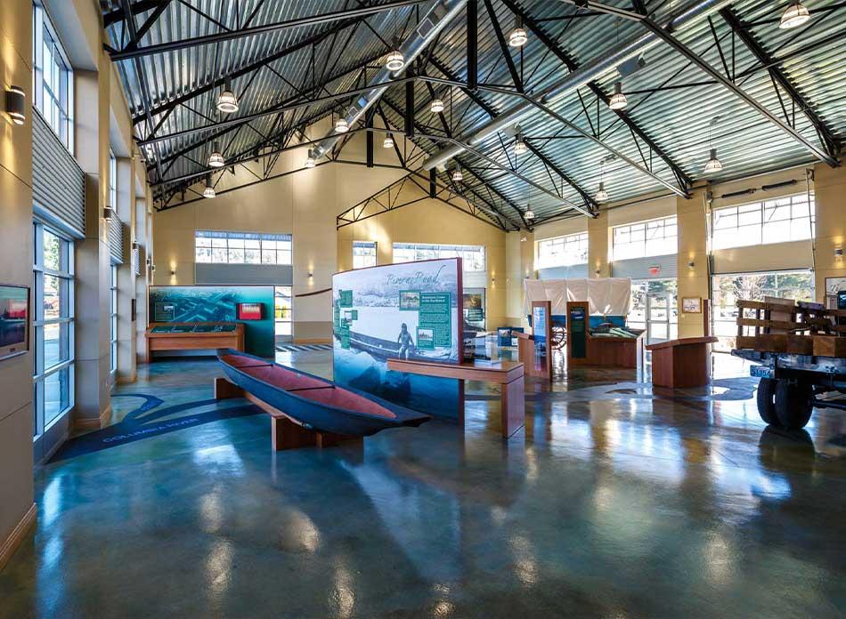 port of kalama exterior center - architectural services firm longview wa designs civic admin