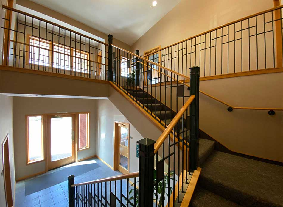 12th avenue building stairs - architectural services firm longview wa designs office buildings