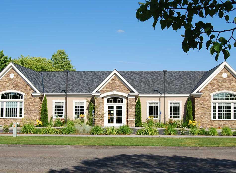 cascade eye center exterior - architectural services firm longview wa designs medical buildings