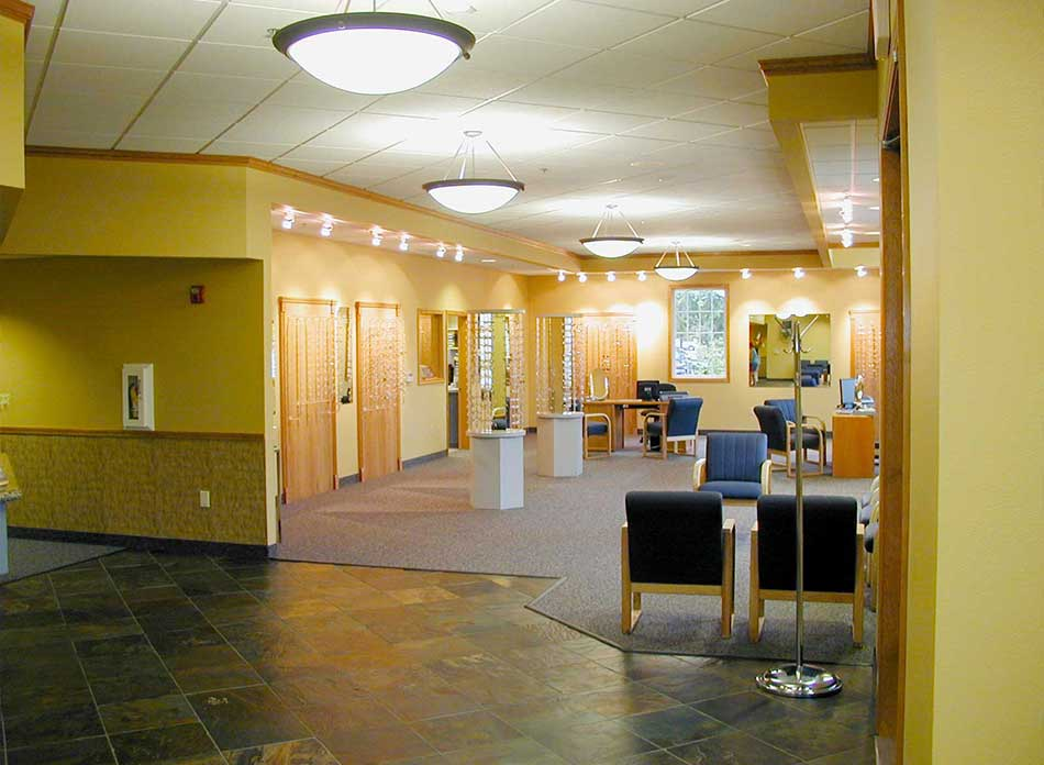 cascade eye center interior - architectural services firm longview wa designs medical buildings