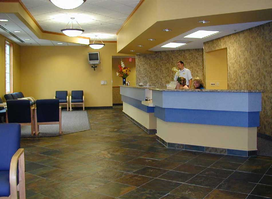 cascade eye center lobby - architectural services firm longview wa designs medical buildings