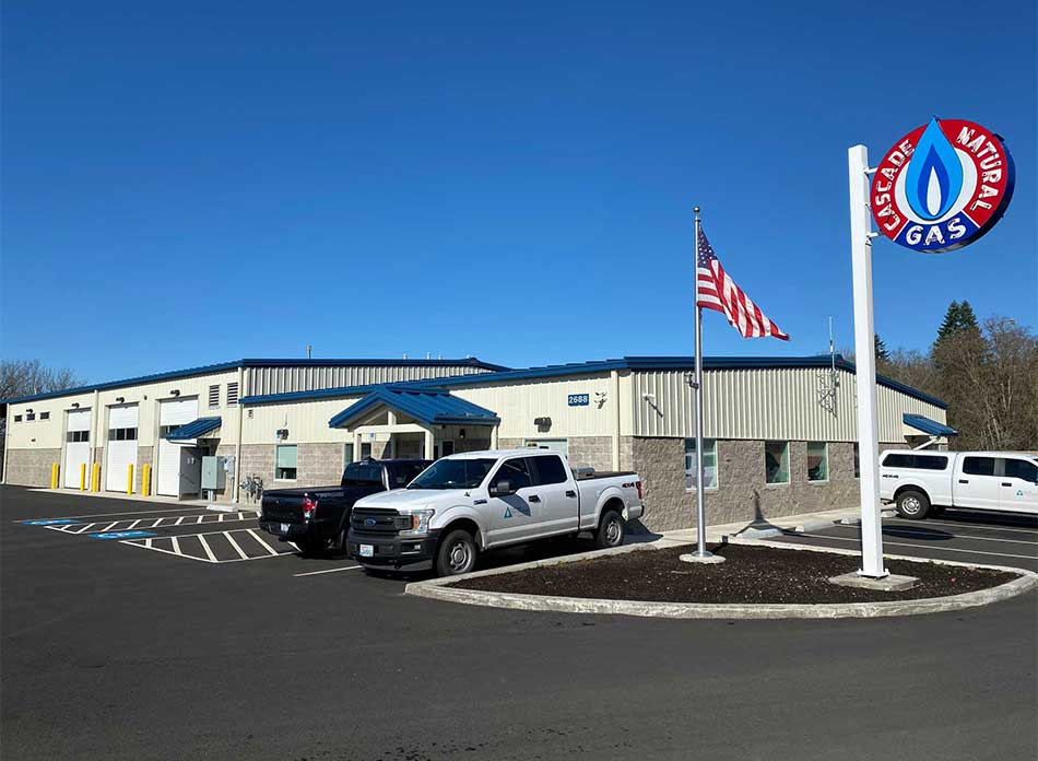 cascade natural gas exterior - architectural services firm longview wa designs buildings