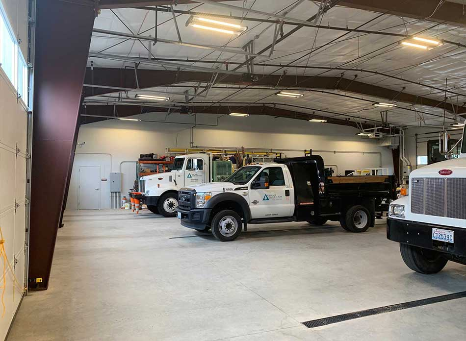 cascade natural gas trucks - architectural services firm longview wa designs buildings