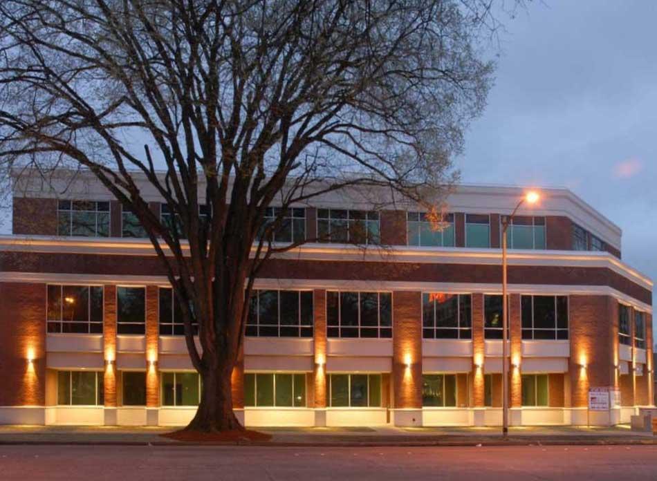 longview civic center exterior night - architectural services firm longview wa designs civic center
