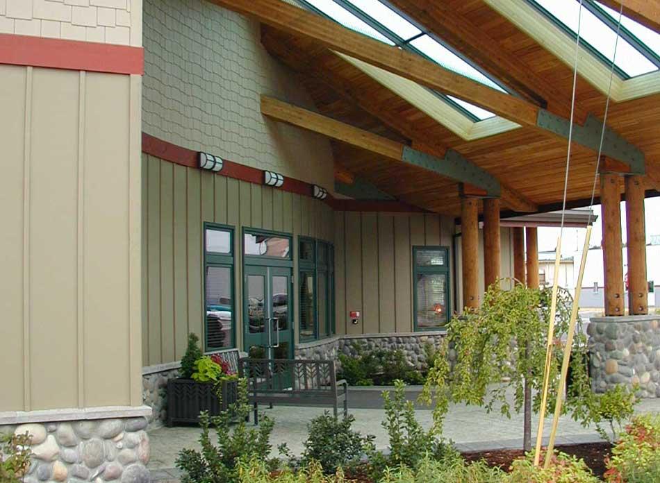 ffcu castle rock exterior - architectural services firm longview wa designs commercial buildings