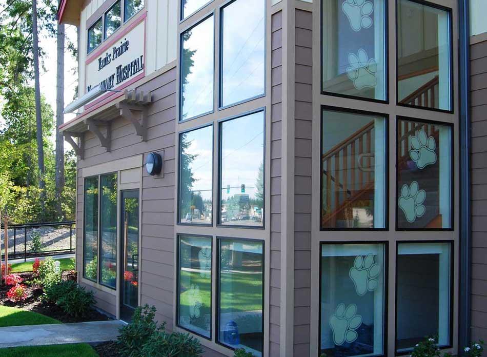 hawks prairie vet hospital exterior 4 - architectural services firm longview wa designs buildings