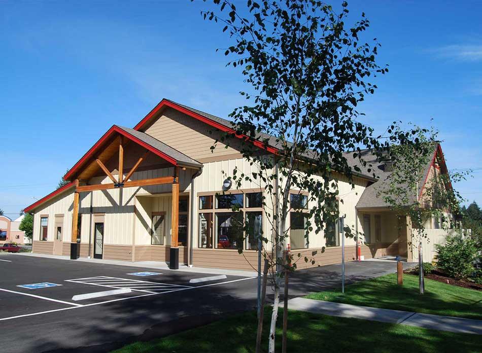 hawks prairie vet hospital lobby - architectural services firm longview wa designs buildings