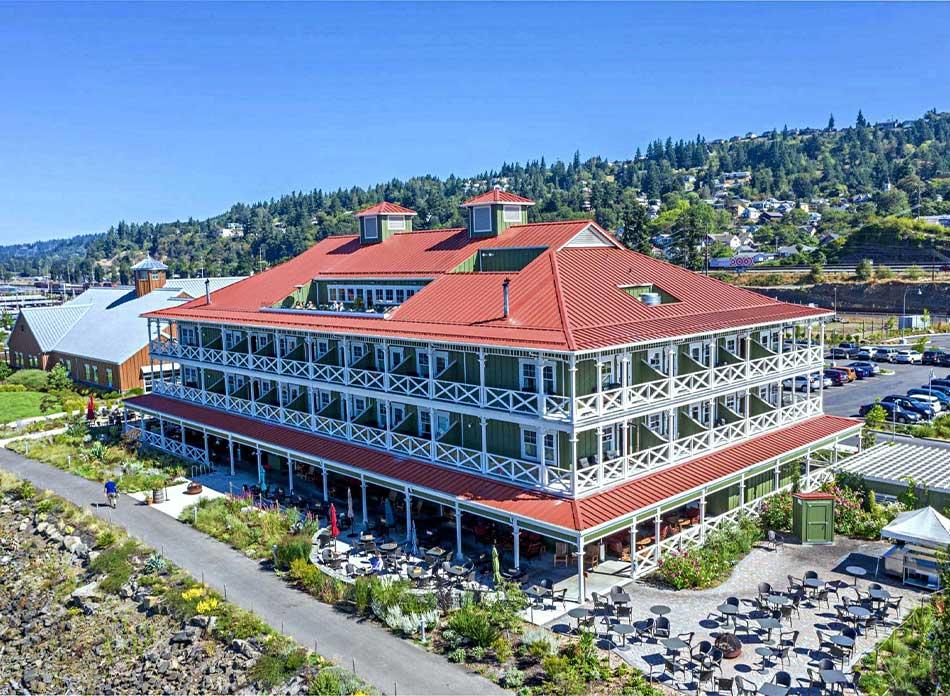 mcmenamins inn exterior - architectural services firm longview wa designs hotels restaurants