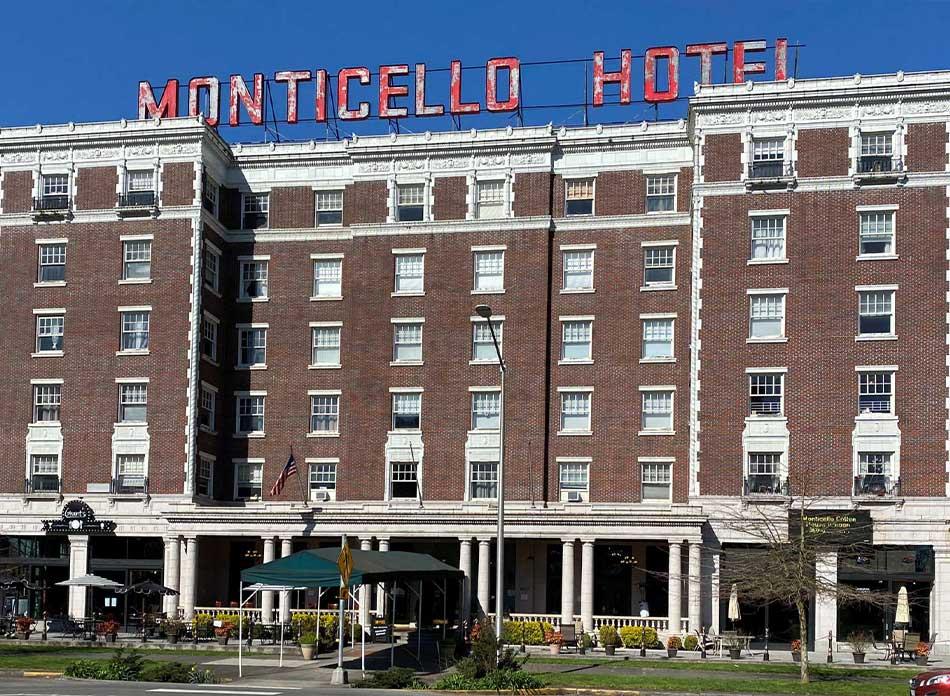 monticello hotel exterior - architectural services firm longview wa designs hotels restaurants