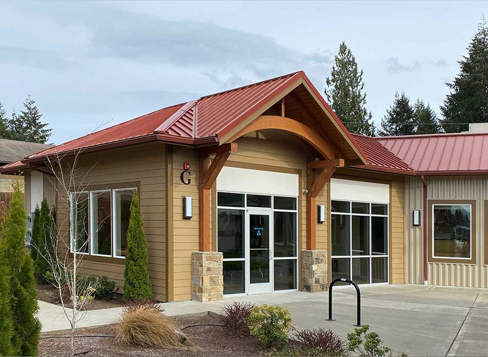 steamboat square exterior 3 - architectural services firm longview wa designs retail building