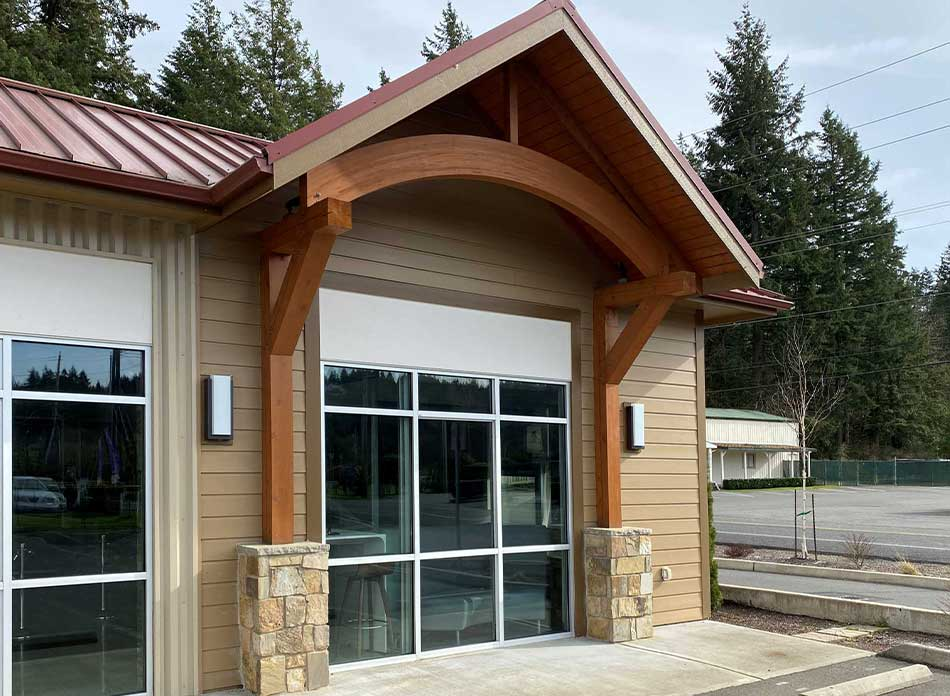 steamboat square exterior 5 - architectural services firm longview wa designs retail building