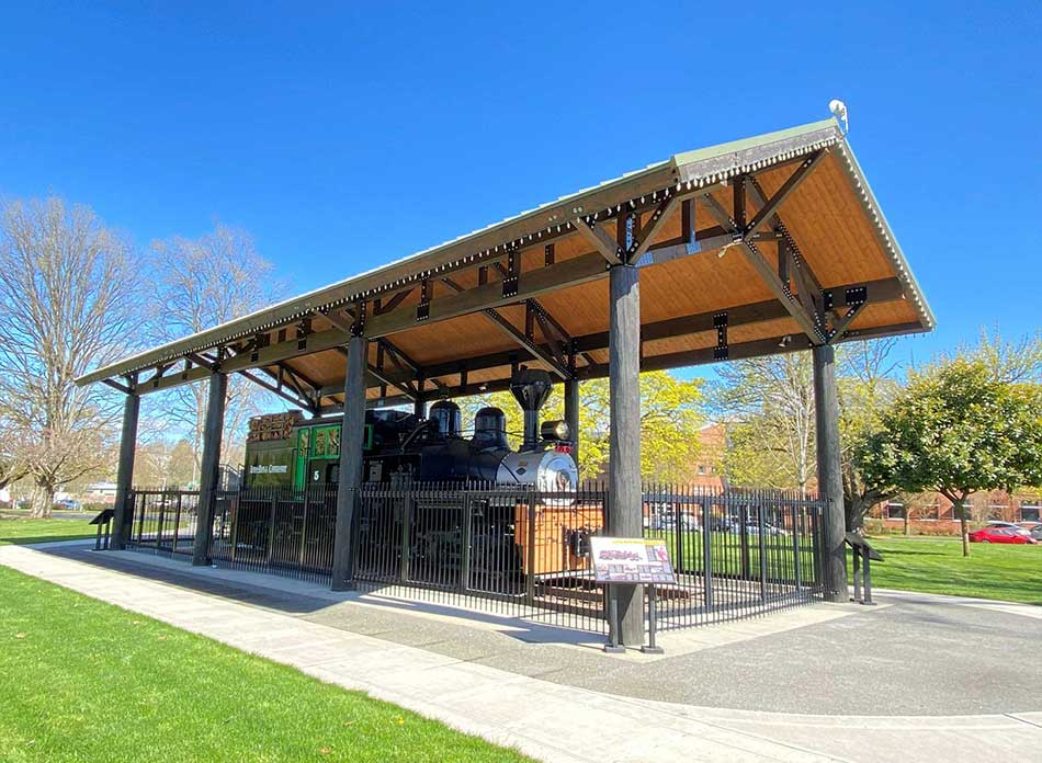 Catlin Rotary Spray Park locomotive - architectural services firm longview wa designs parks