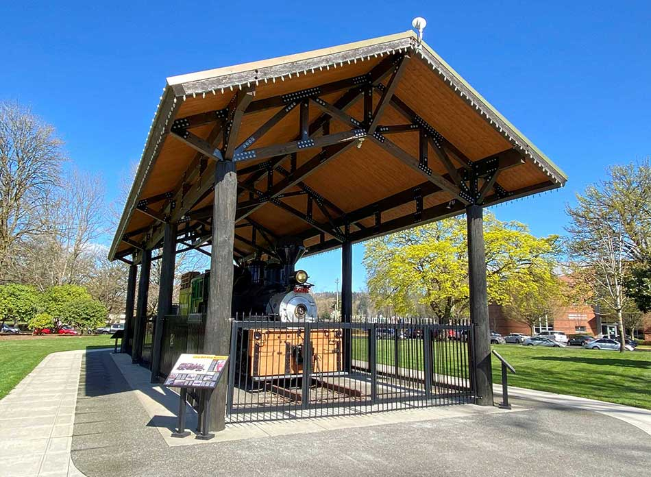Catlin Rotary Spray Park locomotive 2 - architectural services firm longview wa designs parks