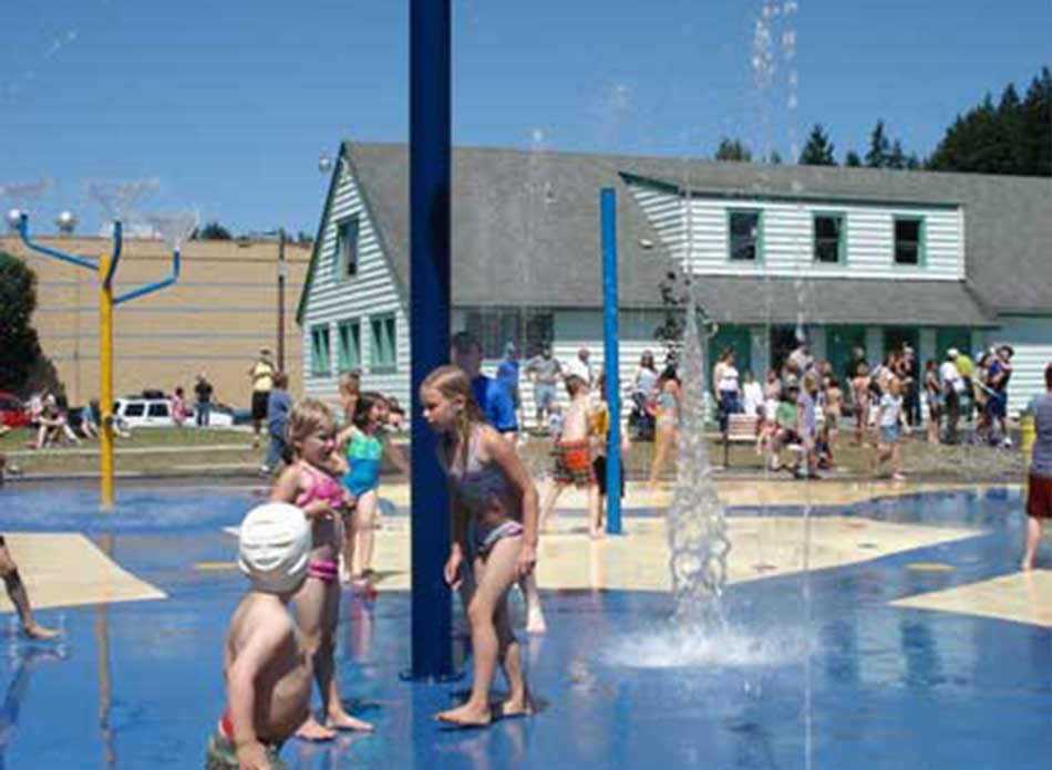 Catlin Rotary Spray Park water 2 - architectural services firm longview wa designs parks