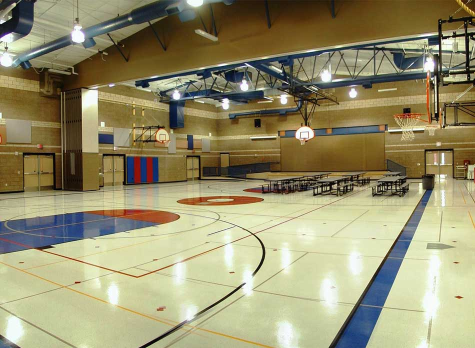 barnes elementary gym - architectural services firm longview wa designs schools