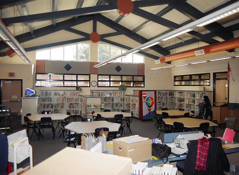 barnes elementary library - architectural services firm longview wa designs schools