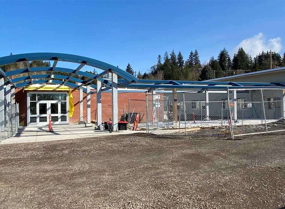 butler elementary exterior - architectural services firm longview wa designs schools