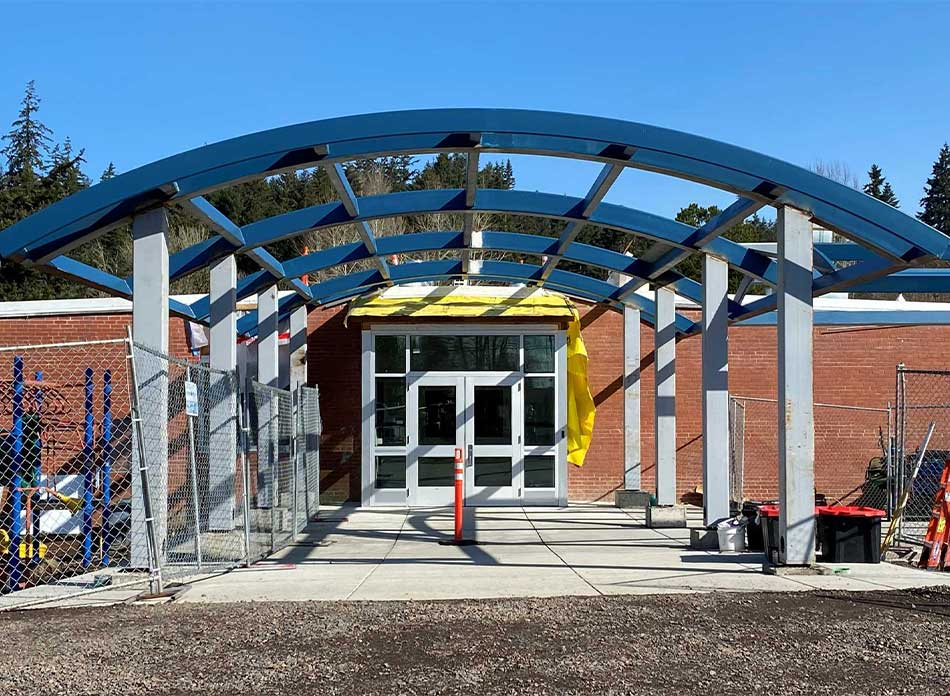 butler elementary exterior 2 - architectural services firm longview wa designs schools