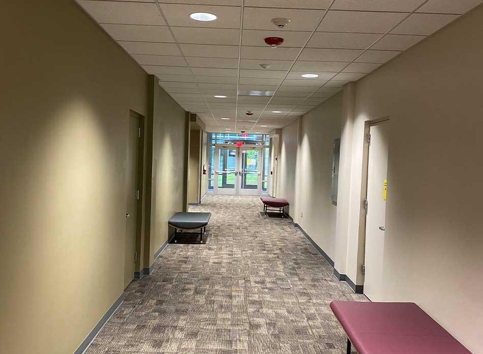 lcc college corridor - architectural services firm longview wa designs schools