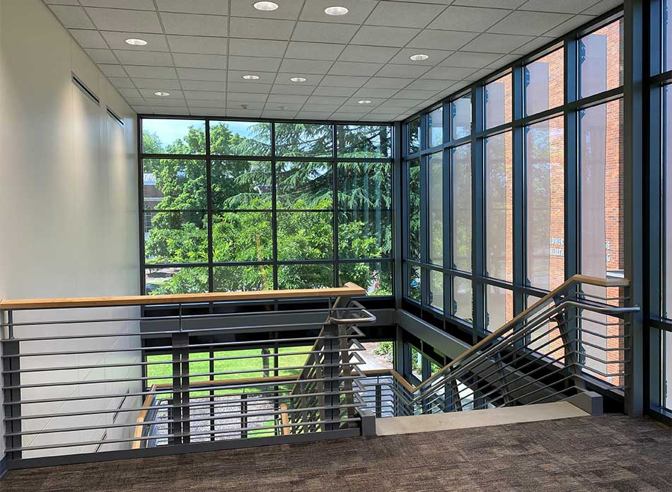 lcc college stairs - architectural services firm longview wa designs schools