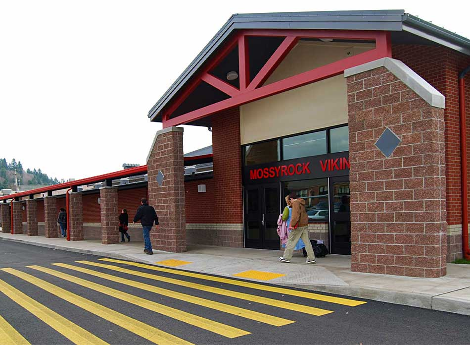 mossyrock gym exterior - architectural services firm longview wa designs schools