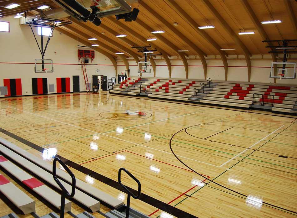 mossyrock gym interior floor- architectural services firm longview wa designs schools