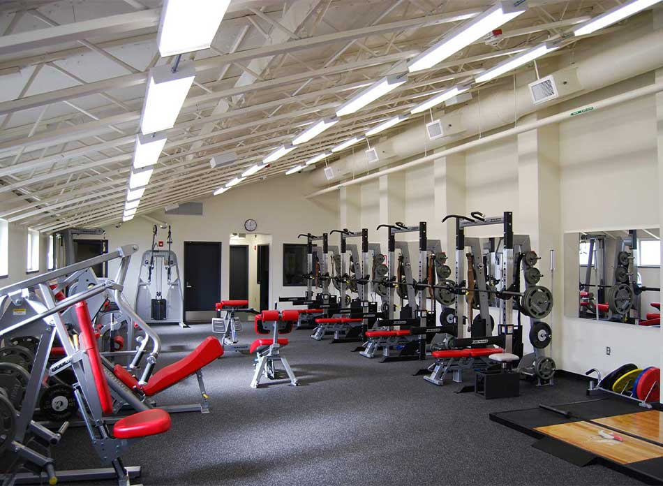 mossyrock gym weight room - architectural services firm longview wa designs schools