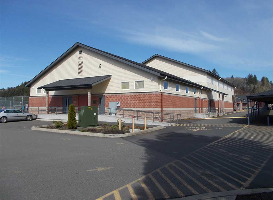 mossyrock gym exterior 2 - architectural services firm longview wa designs schools