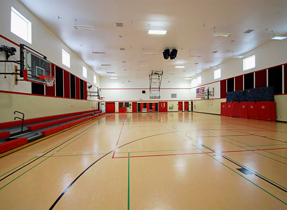 mossyrock gym interior floor 2 - architectural services firm longview wa designs schools