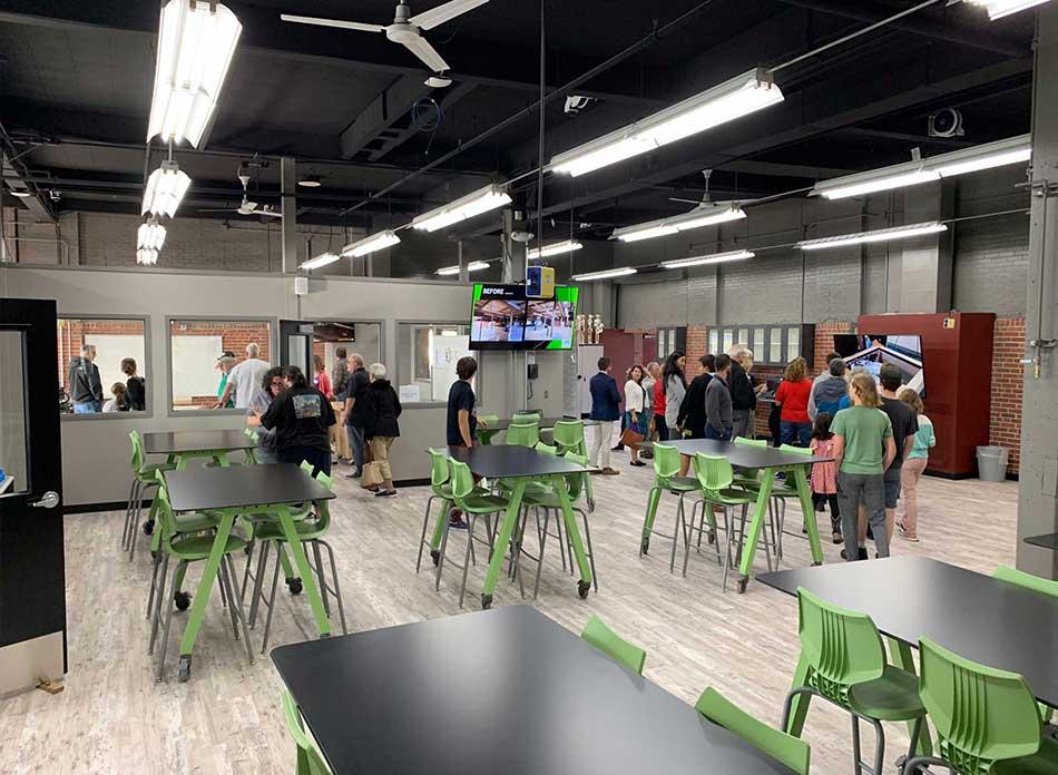r.a. long cte school interior - architectural services firm longview wa designs schools