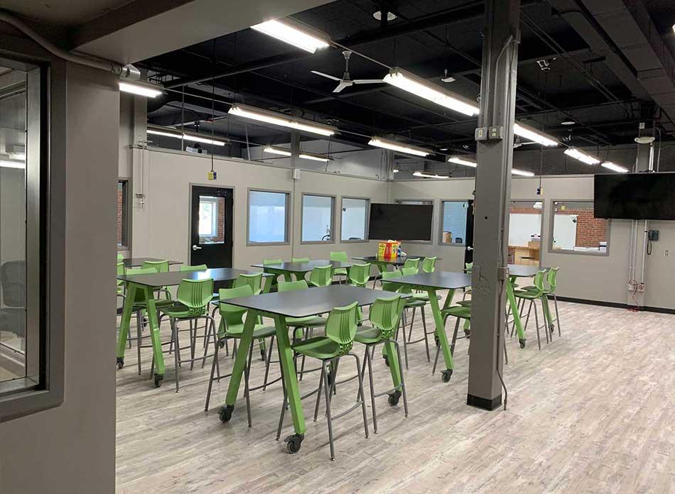 r.a. long cte school interior space - architectural services firm longview wa designs schools