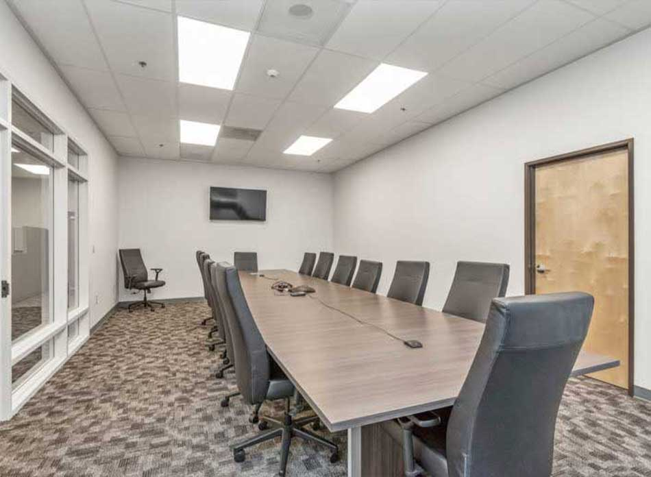 builders first source conference room - architectural services firm longview wa designs industrial