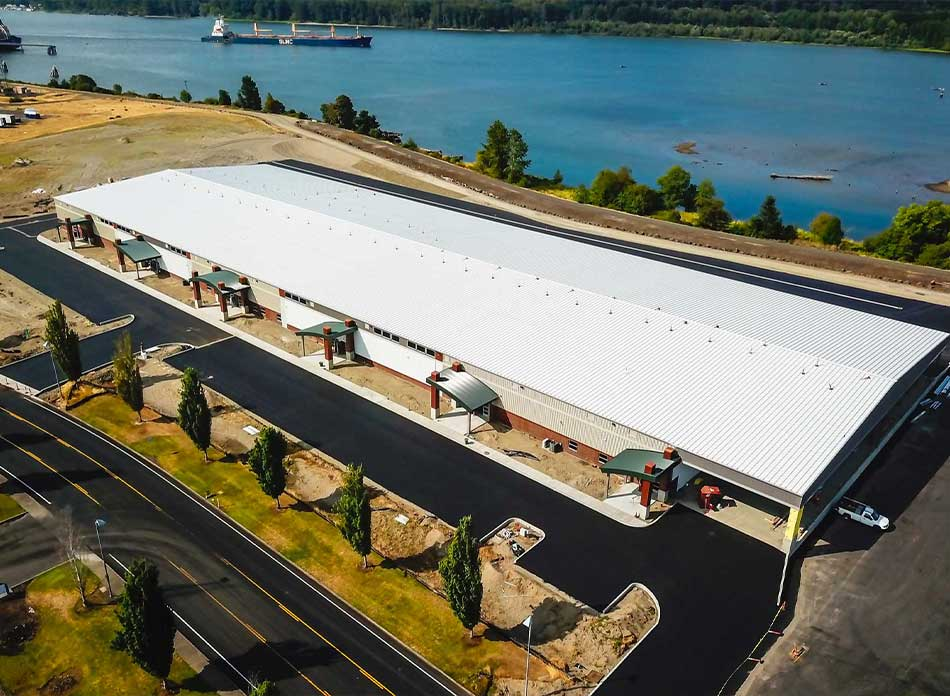 port of kalama bldg 7418 exterior 2 - architectural services firm longview wa designs industrial