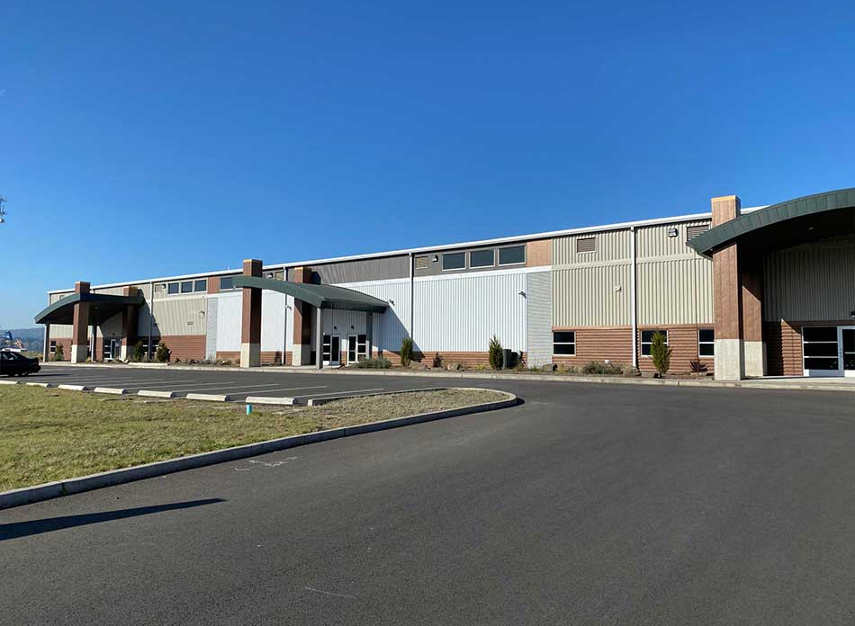 port of kalama bldg 7418 exterior 4 - architectural services firm longview wa designs industrial