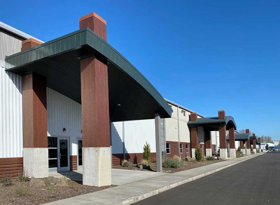 port of kalama bldg 7418 exterior 5 - architectural services firm longview wa designs industrial