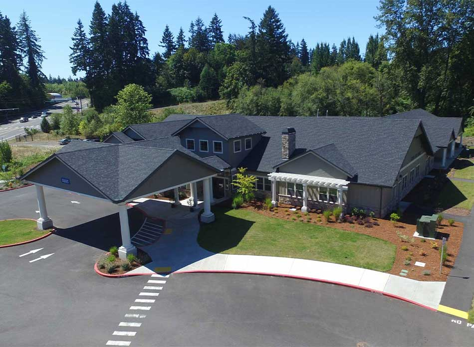 hospice care center exterior - architectural services firm longview wa designs nonprofits