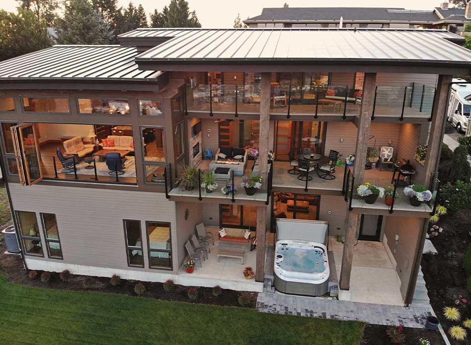 trillium residential exterior - architectural services firm longview wa designs custom residential